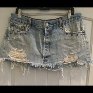 Vintage Levi's mini skirt